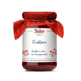 Marmelade aus dem Schwarzwald Faller Erdbeer-Konfitüre extra wie hausgemacht! mit 60% Frucht 330 Gramm