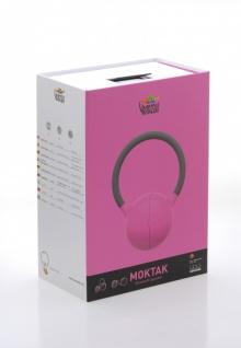 MOKTAK Stereo Design Lautsprecher pink Bluetooth NFC