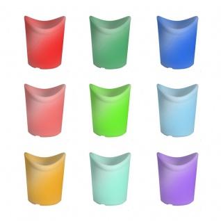 Luminatos 16 LED Eiskühler mit Farbwechsel Fernbedienung Akku Betrieb Eiseimer - Vorschau 4