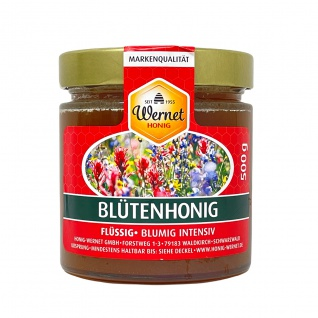 Honig Wernet Traditionsimker im Schwarzwald Blütenhonig im 500 g Glas