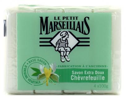 Le Petit Marseillais - Savon Extra Doux Chevrefeuille - Geißblatt 4x 100g