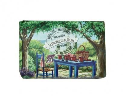 La Savonnerie De Nyons Seife Shea Butter, Olivenöl und Rote Früchte (Fruits Rouge) Seife