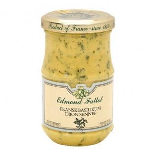 Edmond Fallot - Moutarde au Basilic Senf mit Basilikum 205 Gramm - Vorschau