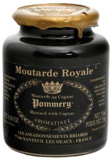 Meaux-Senf Pommery Moutarde Royale Pommery Senf mit Cognac körnig 250 Gramm