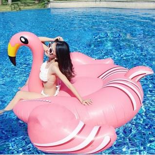 lacool Riesen aufblasbarer Flamingo Badeinsel Luftmatratze Schwimmring 190 cm - Vorschau 3