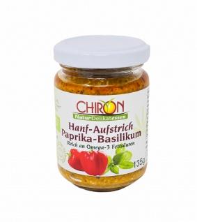 CHIRON Naturdelikatessen Bio Hanf-Aufstrich Paprika-Basilikum kbA 135 g