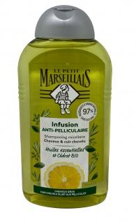 Le Petit Marseillais Antischuppen-Shampoo mit pflanzlichen Ölen für schnell fettendes Haar