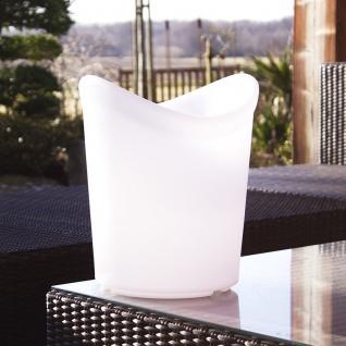 Luminatos 16 LED Eiskühler mit Farbwechsel Fernbedienung Akku Betrieb Eiseimer