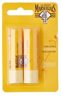 Le Petit Marseillais Lippenpflege mit Shea, Mandel und Argan 2 x 4, 9 g aus Frankreich