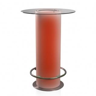 Luminatos LAS VEGAS, LED Tisch mit Glasscheibe Eisfach Farbwechsel Akku Betrieb