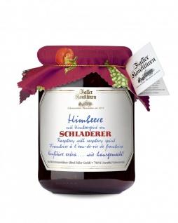 Marmelade aus dem Schwarzwald Faller Himbeer-Konfitüre extra mit SCHLADERER Himbeergeist