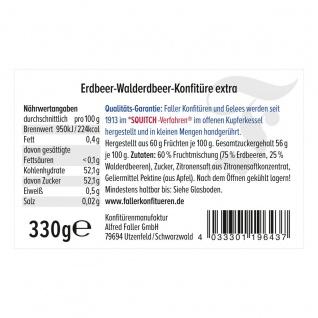 Marmelade aus dem Schwarzwald Faller Erdbeer-Walderdbeer Konfitüre extra wie hausgemacht! mit 60% Frucht 330 Gramm - Vorschau 2