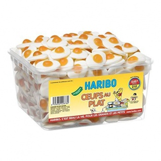 Haribo Spiegeleier Soft Kaubonbons Box 1, 1kg Box