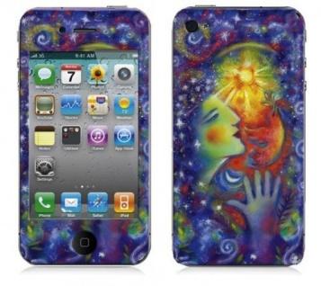 "BODINO Designer Super Skin für iPhone 4 / 4S by Tom Saecker "" WOMAN WITH A SMILE"""