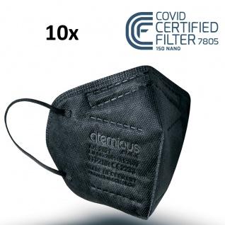 atemious PRO 2 BLACK FFP2 Maske schwarz einzeln oder lose verpackt EN 149:2001+A1:2009 CE 2233