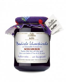 Marmelade aus dem Schwarzwald Faller Schwarzkirsch-Konfitüre extra mit SCHLADERER Kirschwasser