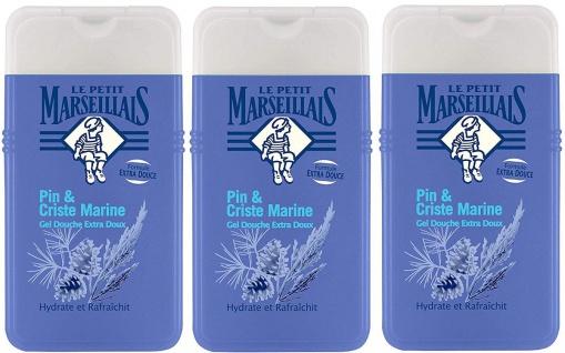 Le Petit Marseillais Duschgel mit Pinie und Meerfenchel 3x250 ml aus Frankreich