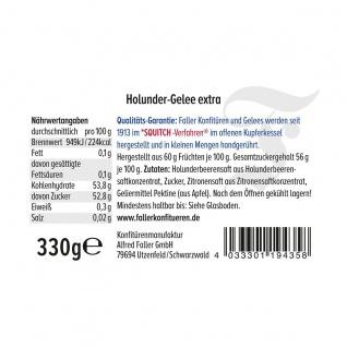 Marmelade aus dem Schwarzwald Faller Holunder-Gelee extra wie hausgemacht! mit 60% Frucht 330 Gramm - Vorschau 2