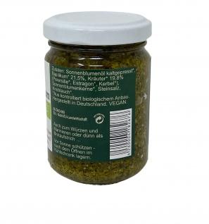 CHIRON Naturdelikatessen Bio Kräuter-Basilikum Pesto kbA 140 g Glas - Vorschau 2