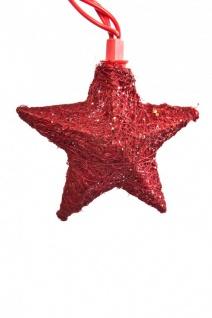Sisal Sternen Lichterkette 10 teilig