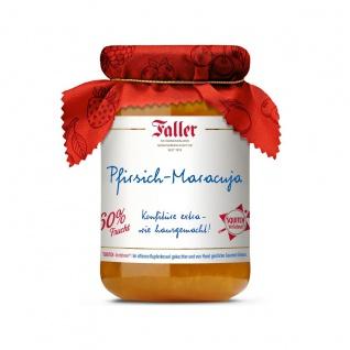 Marmelade aus dem Schwarzwald Faller Pfirsich-Maracuja-Konfitüre extra wie hausgemacht! mit 60% Frucht 330 Gramm