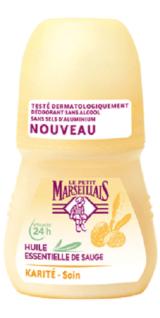 Le Petit Marseillais Deodorant Roller Salbei Öl und Shea 50 ml
