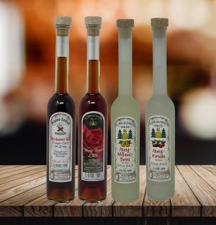 Der Schwarzwald Imker Honig Spirituosen Probier Paket 4 x 0, 1 Liter verschiedene Sorten
