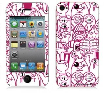 "BODINO Designer Super Skin für iPhone 4 / 4S by Lorenzo Milito "" B-MOVIE"""