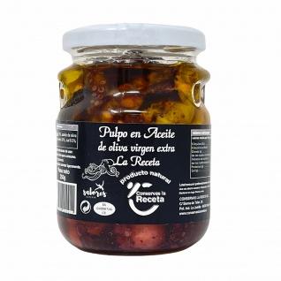 Conservas La Receta Großer Oktopus Stücke in Nativem Olivenöl Extra aus Spanien