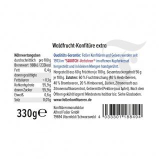 Marmelade aus dem Schwarzwald Faller Waldfrucht-Konfitüre extra hausgemacht! mit 60% Frucht 330 Gramm - Vorschau 2