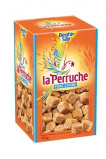 La Perruche Brauner natürlicher Würfel Rohrzucker 750 Gramm