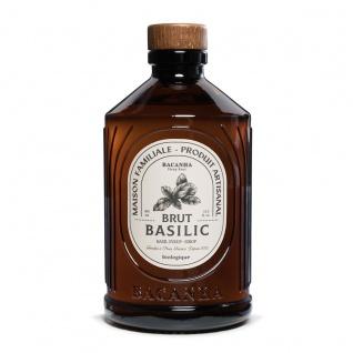 Bacanha Sirop Brut de Basilic Bio 400 ml - Bio Basilikum Sirup aus Frankreich mit Bio Rohrzucker