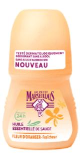 Le Petit Marseillais Deodorant Roller Salbei Öl und Orangenblüten 50 ml