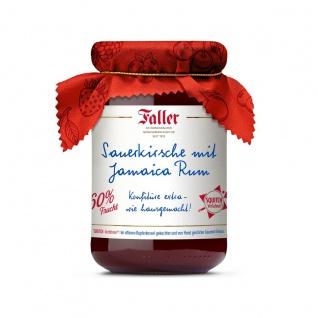Marmelade aus dem Schwarzwald Faller Sauerkirsch-Konfitüre extra mit Jamaica-Rum wie hausgemacht! mit 60% Frucht 330 Gramm