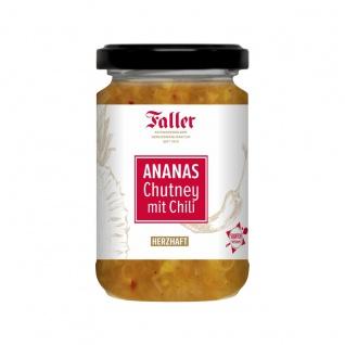 Brotaufstrich aus dem Schwarzwald Faller Ananas Chutney mit Chili 260 ml - Vorschau 1