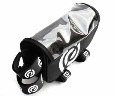 BikeRibbon SIDE Oberrohr-Rahmen-Tasche Polyester, Klettverschluß, schwarz