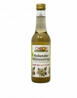 CHIRON Naturdelikatessen BIO Holunderblütensirup kbA 330 ml ergibt bis zu 3, 5 Liter