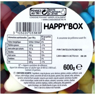 Haribo Happy Box 600 Gramm - Vorschau 2