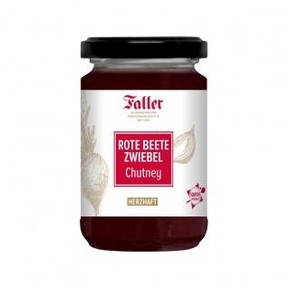 Brotaufstrich aus dem Schwarzwald Faller Rote Beete-Zwiebel Chutney 260 ml