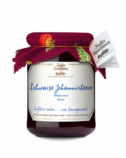 Marmelade aus dem Schwarzwald Faller Johannisbeer schwarz Konfitüre extra 450 Gramm