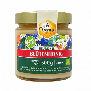 Honig Wernet Traditionsimker im Schwarzwald Deutscher BIO-Blütenhonig im 500 g Glas