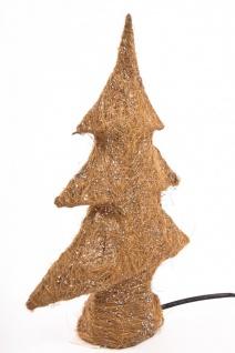 Sisal Tannenbaum / Christbaum mit 10tlg. Beleuchtung, gold, ca. 30cm,