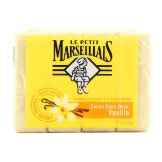 Le Petit Marseillais Seife Vanille extra doux 4x100 Gramm aus Frankreich