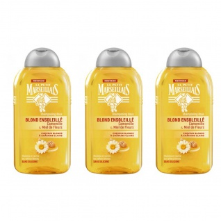 Le Petit Marseillais Shampoo Kamille-Extrakt Blütenhonig für blondes u. hellbraunes Haar 3 x 250ml