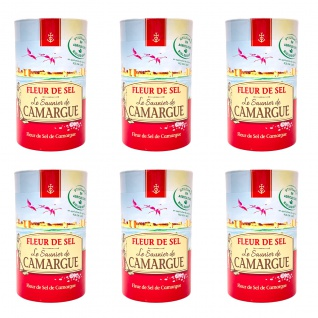 Le Saunier de Camargue Fleur de Sel 6 x 1000 Gramm