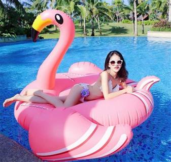 lacool Riesen aufblasbarer Flamingo Badeinsel Luftmatratze Schwimmring 190 cm - Vorschau 4