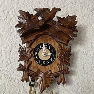 FeineHeimat original Schwarzwald Kuckucksuhr aus Holz 14 x 10 cm Made in Germany - Vorschau 2