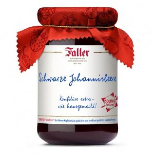 Marmelade aus dem Schwarzwald Faller Johannisbeere schwarz Konfitüre extra 330 g