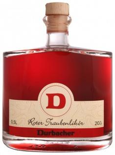 Durbacher Roter Traubenlikör 19, 5% 0, 5 Liter aus dem Weinort Durbach