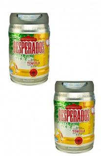 Desperados Bier mit Tequila 2 x 5 Liter Fass inkl. Zapfhahn